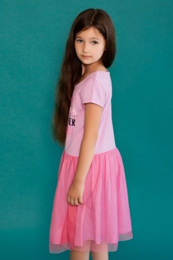 Платье 22472 Enchantimals кор. рукав (Розовый) (Фото 2)