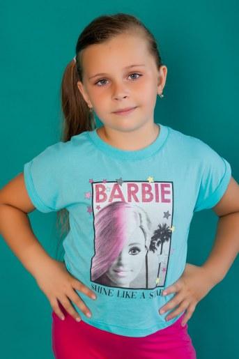 Футболка 22468 Barbie кор. рукав (Мятный) - Фаина