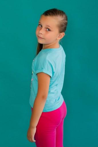 Футболка 22468 Barbie кор. рукав (Мятный) (Фото 2)