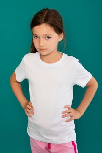 Футболка 22477 детская кор. рукав (Белый) - Фаина