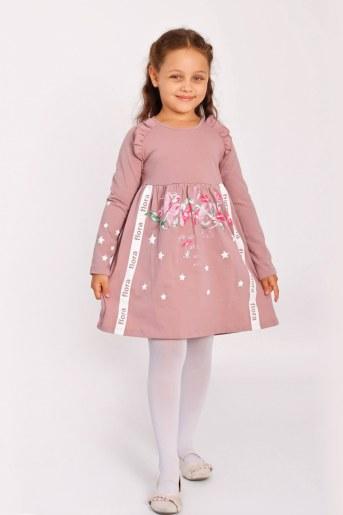 Платье Пташка детское (Пыльная роза) - Фаина