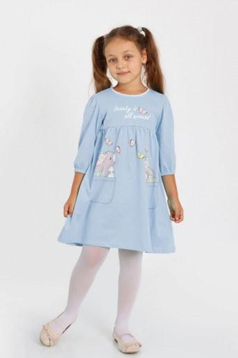 Платье Бубочка детское (Голубой) - Фаина