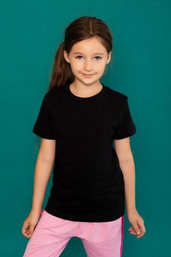 Футболка 22479 детская кор. рукав (Черный) - Фаина