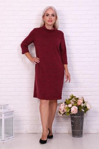 Платье 37020 (Брусничный) - Фаина