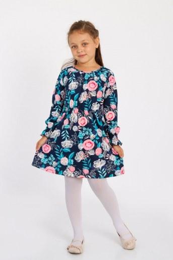 Платье Лотос детское (Темно-синий) - Фаина