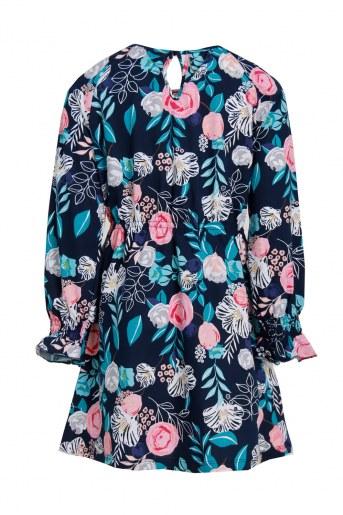 Платье Лотос детское (Темно-синий) (Фото 2)