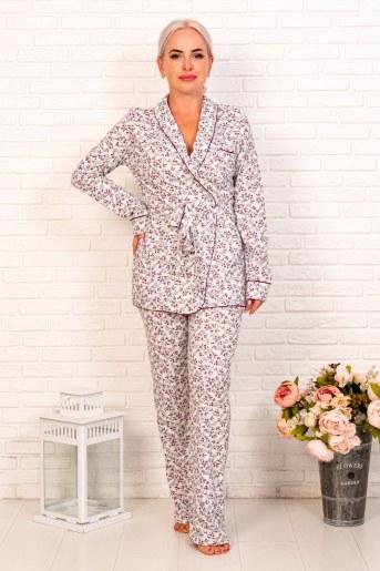 Пижама 44002 (Мелкие цветы) - Фаина