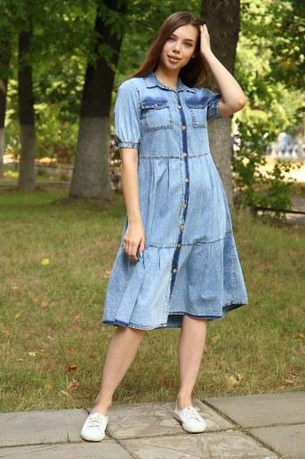 Платье 38013 (Голубой) - Фаина