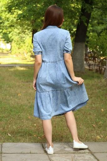 Платье 38013 (Голубой) (Фото 2)