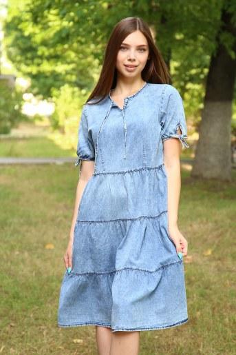 Платье 38012 (Голубой) - Фаина