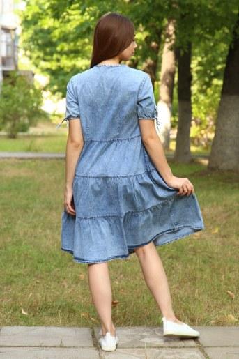 Платье 38012 (Голубой) (Фото 2)