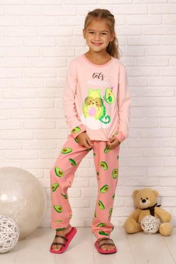 Пижама Кошка авокадо дл. рукав (Розовый) - Фаина