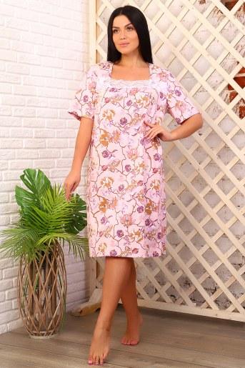 Сорочка 15182 (Розовый) - Фаина