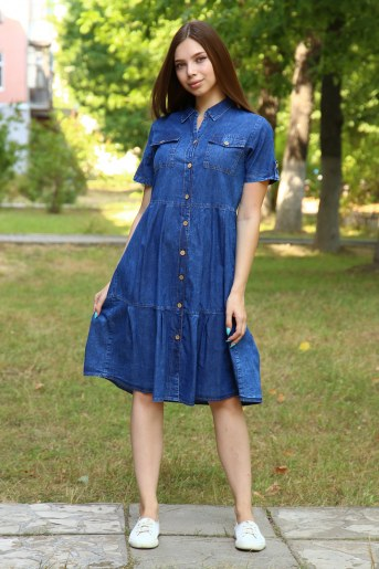 Платье 38015 (Синий) - Фаина