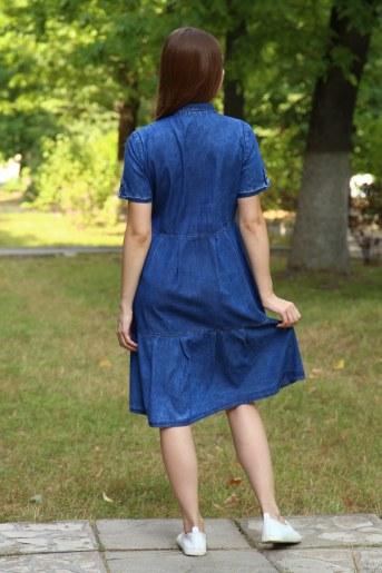 Платье 38015 (Синий) (Фото 2)