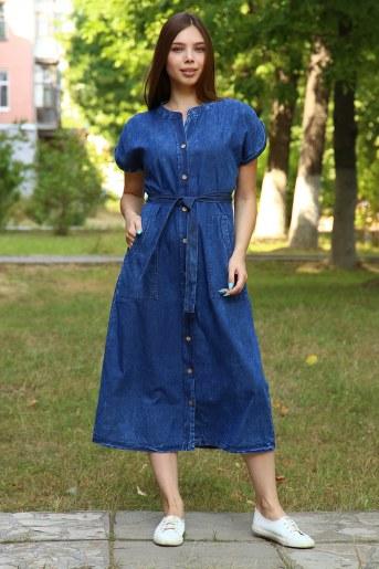 Платье 38017 (Синий) - Фаина