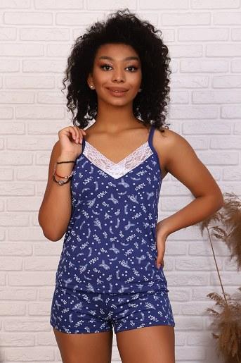Пижама 15187 (Индиго) - Фаина