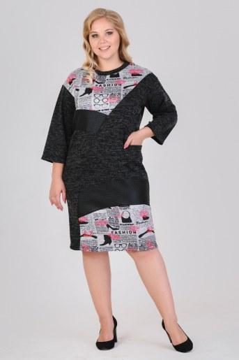 Платье 13495 (Антрацит) - Фаина