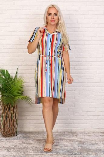 Платье 6979 (Полоса) - Фаина