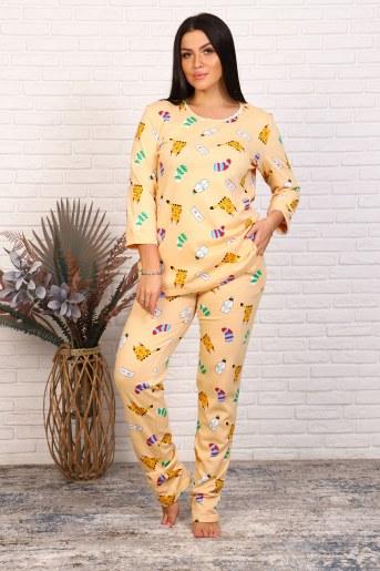 Пижама 46020 (Бежевый) - Фаина