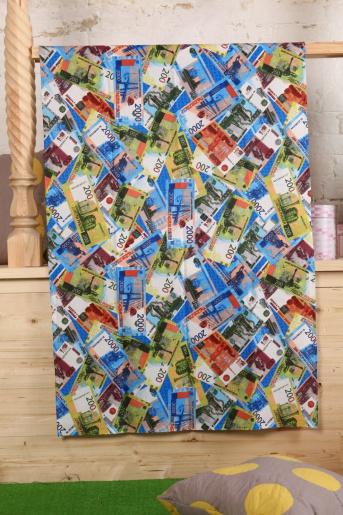 Полотенце вафельное рубли, 150х80 - Фаина