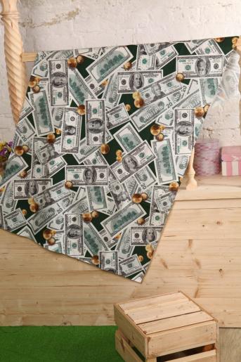 Полотенце вафельное доллары, 150х80 - Фаина
