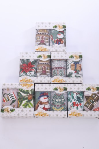 Подарочный набор из 2-х полотенец (Лен) - Фаина