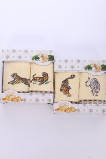Подарочный набор из 2-х полотенец (Вафельное полотно) - Фаина