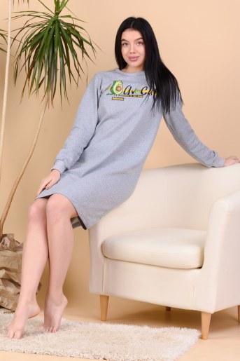 Сорочка Линка (Серый-меланж) - Фаина
