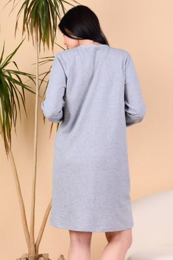 Сорочка Линка (Серый-меланж) (Фото 2)