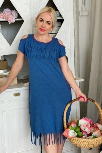 Платье 7166 (Индиго) - Фаина