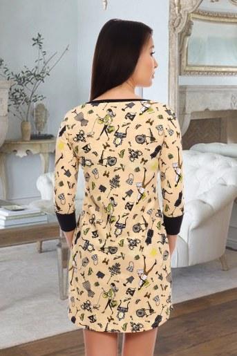 Платье 10460 (Персиковый) (Фото 2)