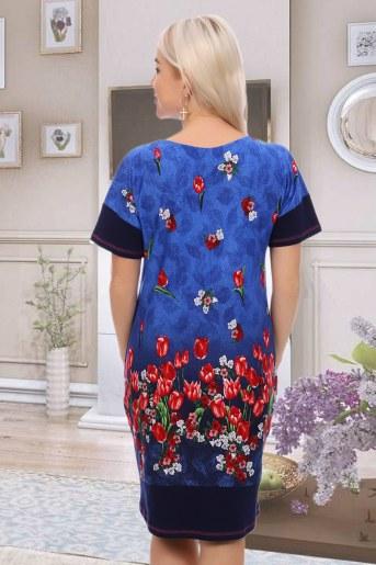 Платье 6838 (Синий) (Фото 2)