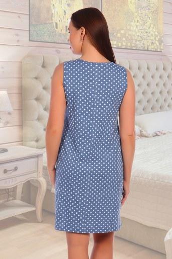 Сорочка Жаклин (Голубой) (Фото 2)