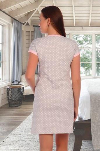 Сорочка Ева (Серый меланж) (Фото 2)