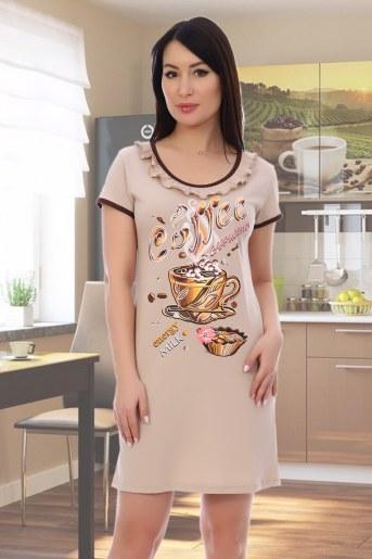 Сорочка Кофе (Какао) - Фаина