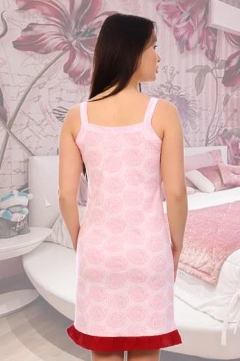 Сорочка Лакшери (Розовый) (Фото 2)