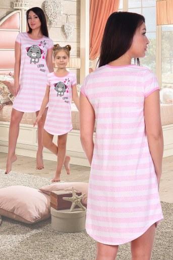 Сорочка Пенка (Розовый) (Фото 2)