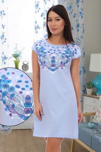 Сорочка Аквамарин (Голубой) - Фаина