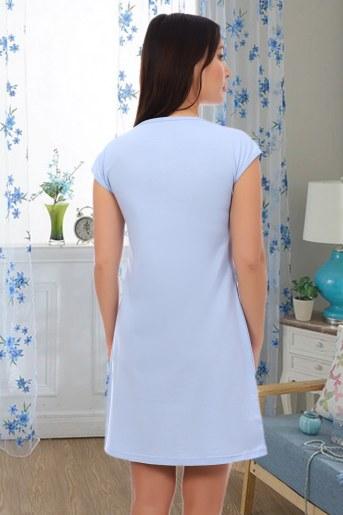 Сорочка Аквамарин (Голубой) (Фото 2)