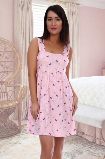 Сорочка Поэма (Розовый) - Фаина