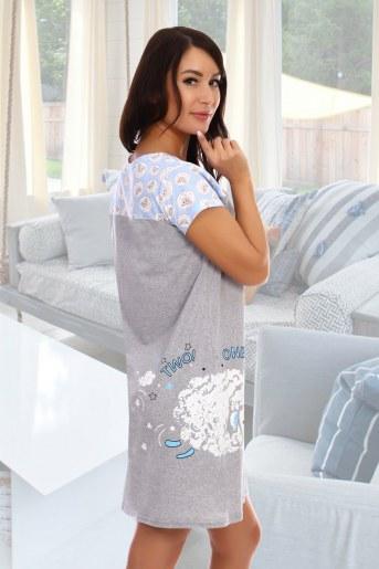 Сорочка Барашки (Серый) (Фото 2)