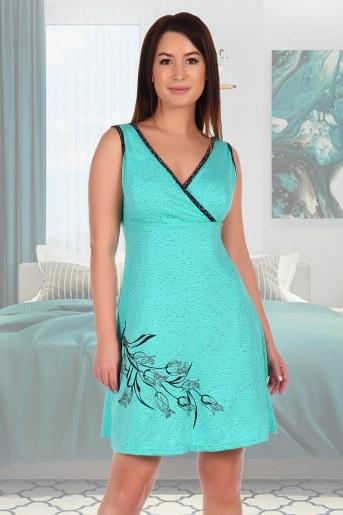 Сорочка Камелия (Зеленый) - Фаина