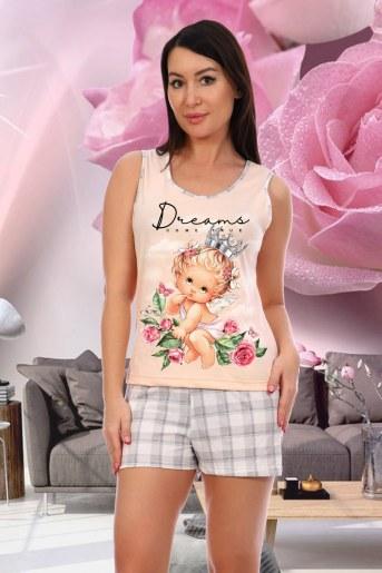 Пижама 7055 (Персиковый) - Фаина