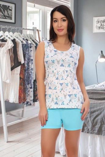 Пижама 3776 (Голубой) - Фаина