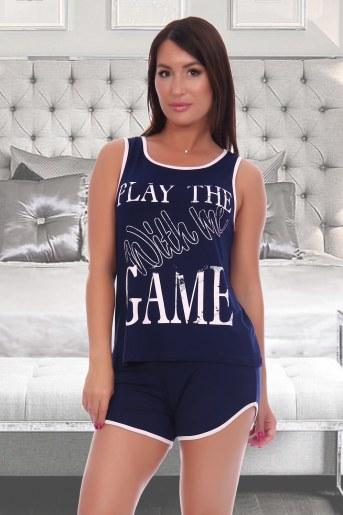 Пижама 6103 (Темно-синий) - Фаина