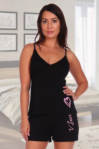 Пижама Бонжур (Черный) - Фаина