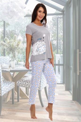 Пижама Овечки (Серый) - Фаина
