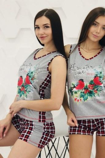 Пижама 1360 (Серый) - Фаина