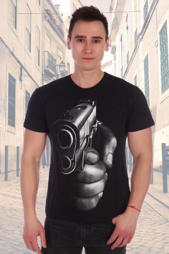 Футболка Пистолет (Черный) - Фаина